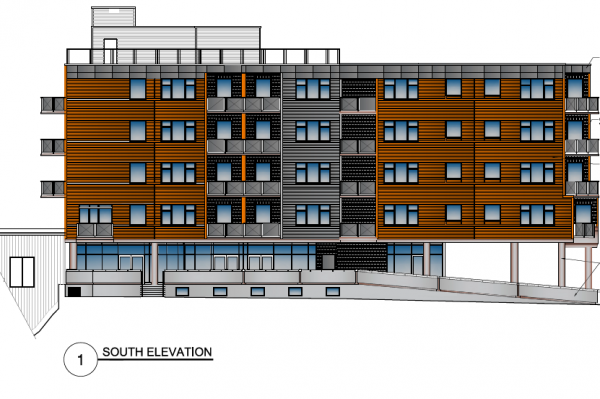 Commercial page South Elevation of the Upside